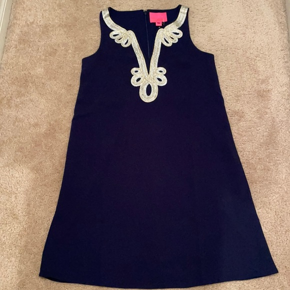 Lilly Pulitzer Navy Embellished Soft Shift Dress